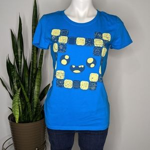 Loot Crate Adventure Time blue t-shirt M